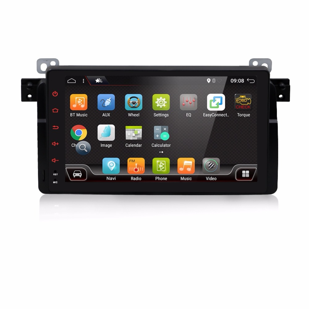 Android 7.1 2G RAM 16G ROM 9  Inch 2 DIN Car GPS Navi Radio stereo For BMW E46 M3 Land Rover 3 Series dvd player navigation DSP