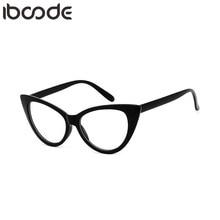 Glasses Frame Spectacle Vintage Clear-Lens Women Eyewear Cat-Eye Iboode New Student Unisex