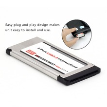 купить High Full Speed Express Card Expresscard to USB 3.0 2 Port Adapter 34 mm Express Card Converter New Arrival дешево