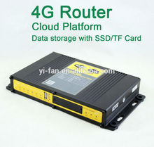 Support Cloud Platform 60 users connected industrial WIFI 4G advertising router FOR CAR BUS WIFI