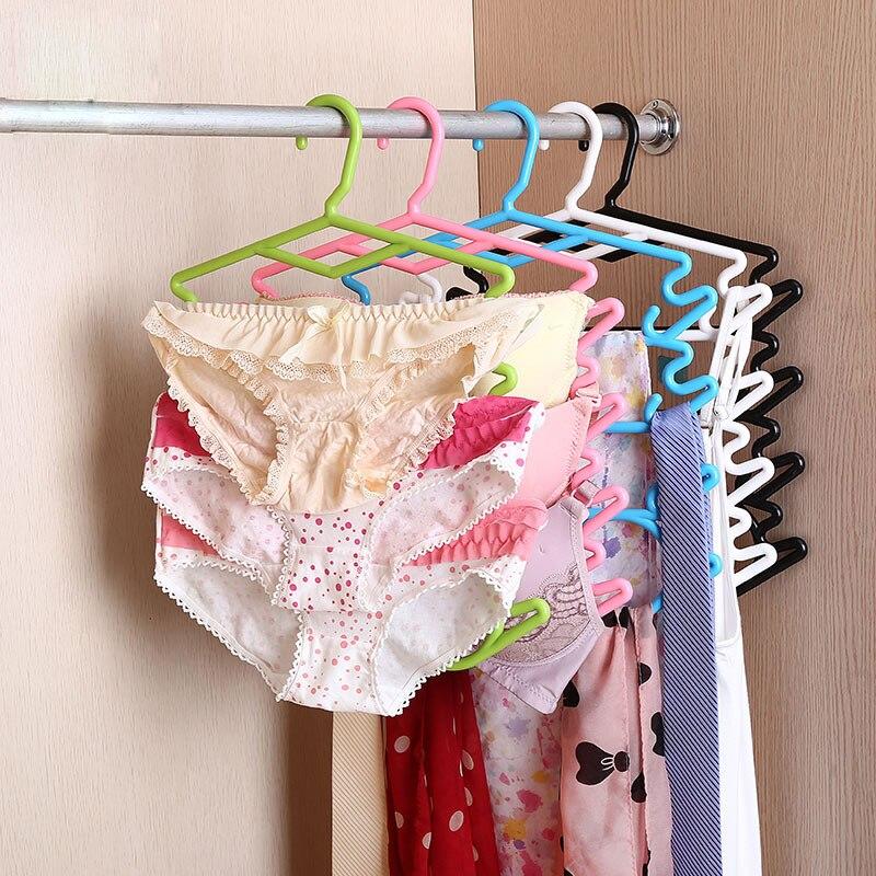 3ks / lot Plastové protišmykové bezešvé ramínka pro domácnost závěs pro dospělé závěs prádlo prádlo závěsné kalhoty stojan