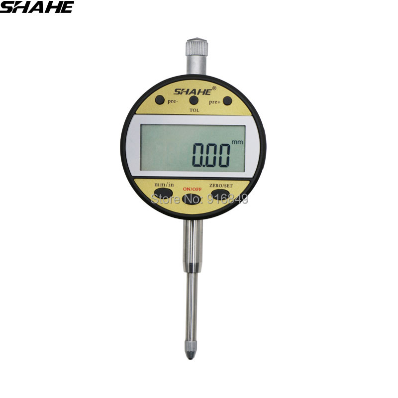 shahe 0-25.4 0.01 mm digital gauge indicator gauge indicator tool digital dial indicator measuring instrument