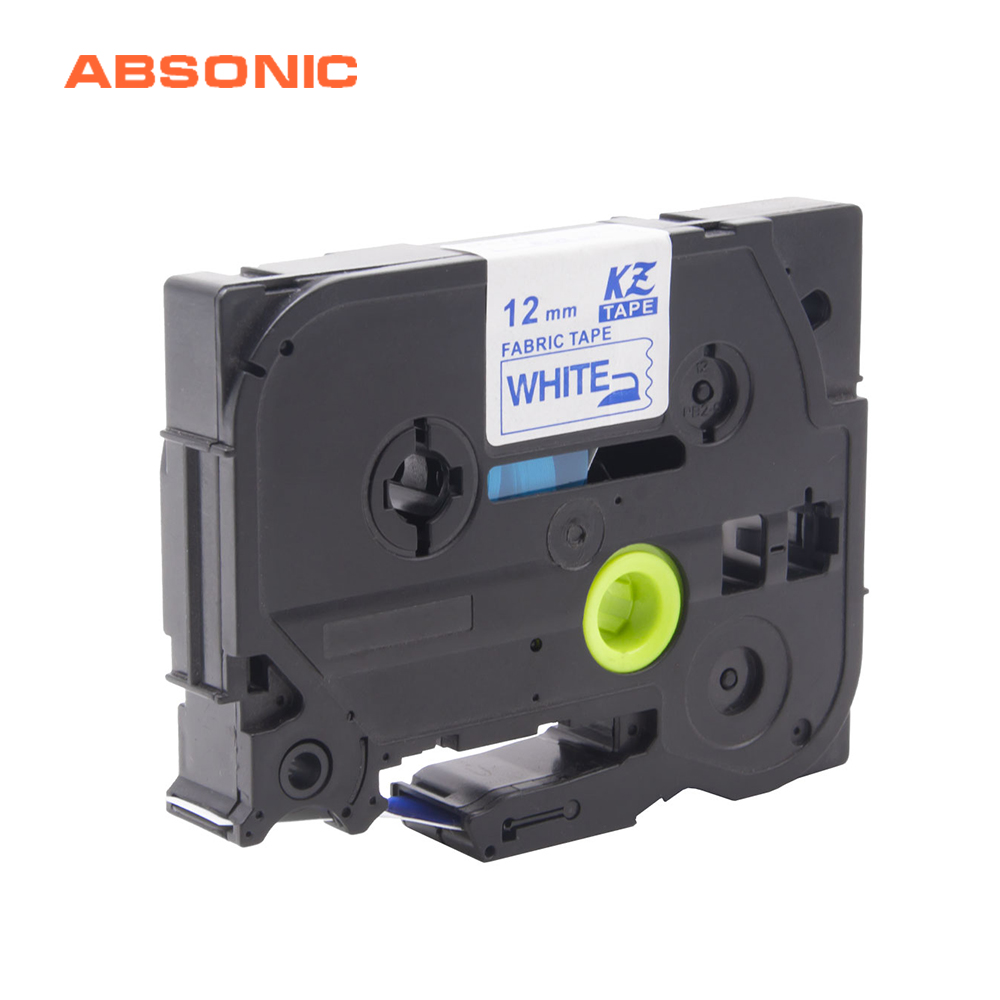 Absonic 12mm Compatible For Brother Tz FA3 TZeFA3 TZe-FA3 Iron On Fabric Blue on White Tape for P-Touch PT H101C H110 LabelMakerAbsonic 12mm Compatible For Brother Tz FA3 TZeFA3 TZe-FA3 Iron On Fabric Blue on White Tape for P-Touch PT H101C H110 LabelMaker