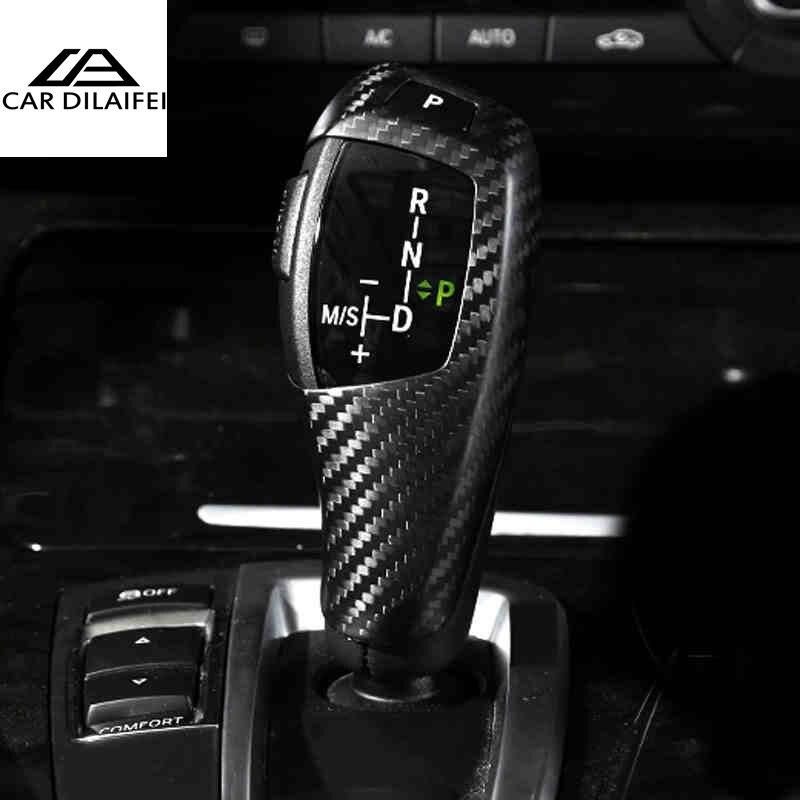 Carbon Fiber Car Gearshift Knob Covers for BMW F20 F30 F31 F34 3GT X3 F25 X4