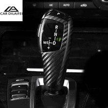 Углеродного волокна автомобиль КПП ручку крышки для BMW F20 F30 F31 F34 3GT X3 F25 X4 F26 X5 F15 X6 f16 автомобильные аксессуары для укладки