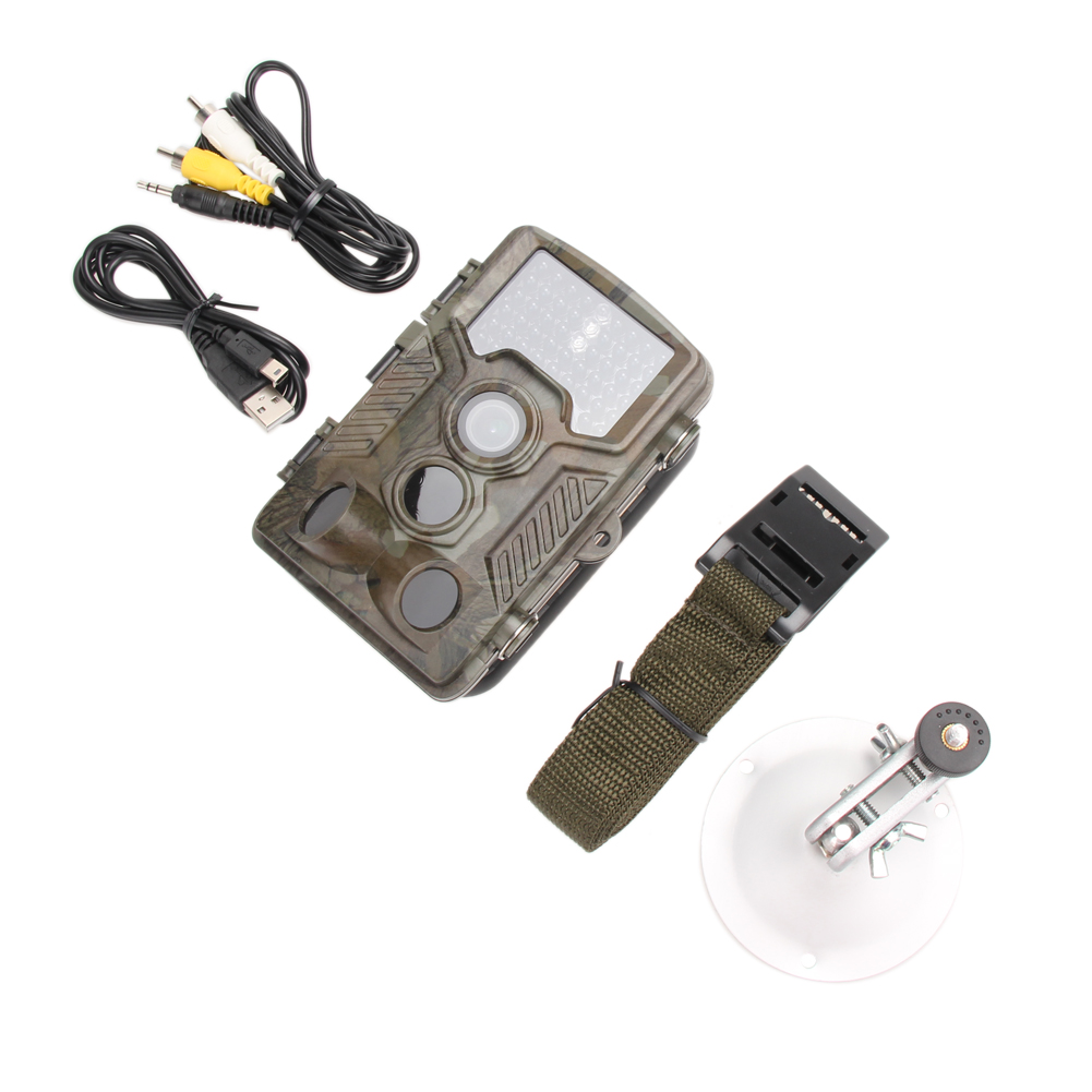 Hunting Camera Trail Digital Scouting Infrared Video Night Vision 12MP HD Camera Trap Game Cameras Black IR Wildlife Cameras hd 1080p scouting hunting camera new hd digital night vision trail camera 2 4 inch screen ir hunter cam