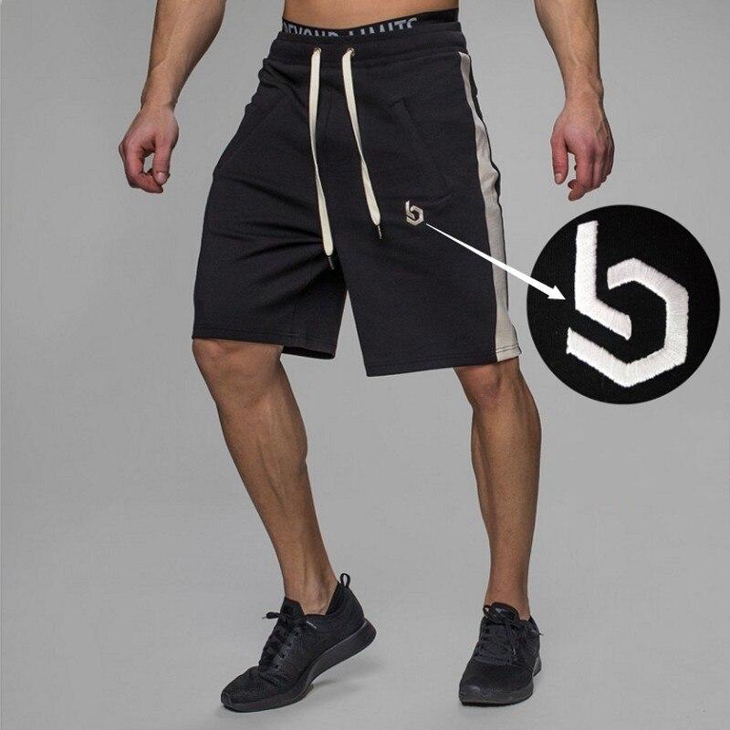 Gym Man Short Men Sporting Beaching Shorts Cotton Bodybuilding Sweatpants Summer Breathable Sports Men Fitness Slim cargo shorts