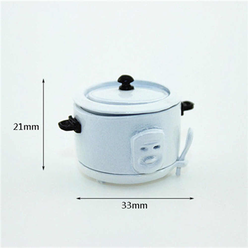1//12 Dollhouse Decor Miniature Metal Electric Cooker Kitchen Furniture Model