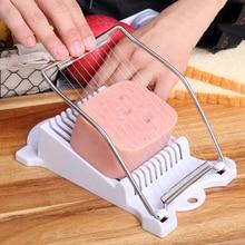 Белый ABS нержавеющая сталь Ланчон мясо ветчины сыра слайсер для яиц спам резак дизайн кухонные инструменты для приготовления пищи горячая распродажа