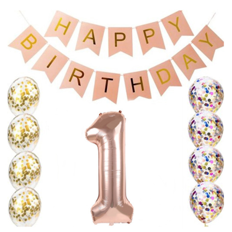 <font><b>Birthday</b></font> set 16 21 30 40 <font><b>50</b></font> 60 years old <font><b>happy</b></font> <font><b>birthday</b></font> confetti 32 inch digital foil balloon <font><b>birthday</b></font> party decoration supplies image