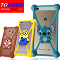 Phone Case HomTom HT16 Cute Animal Patterns Soft Universal Silicone Case Cover For HomTom HT16 Phone Frame