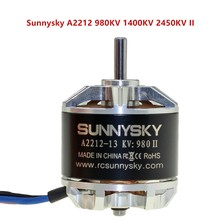 1 pcs Sunnysky A2212 980KV 1400KV 2450KV II Motor Brushless Auto-lock Screw-CW/CCW Para Diy corrida zangão Quadcopter RC Avião