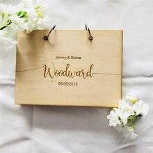 Современная Свадебная Гостевая книга деревянная Гостевая книга livre d'or Персонализированная Гостевая книга