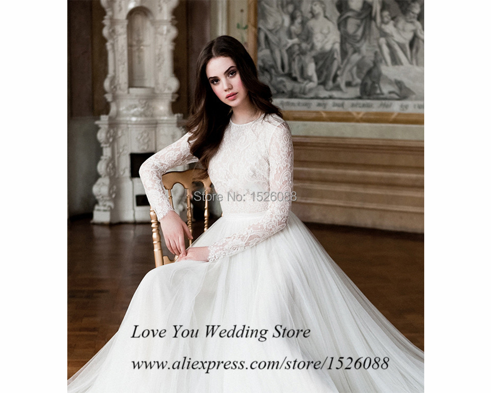 2015 new vintage long sleeve lace wedding dress russian style tulle 2015 new vintage long sleeve lace wedding dress russian style tulle a line bride dresses plus size vestido de noiva renda in wedding dresses from weddings ombrellifo Image collections