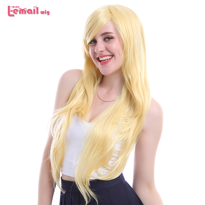 L-email Wig New Arrival Women Wigs 6 Colors 80cm Long Straight Heat Resistant Synthetic Hair Perucas Cosplay Wig