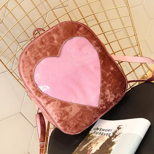 TRANSPARENT LOVE HEART BACKPACK (3 VARIAN)