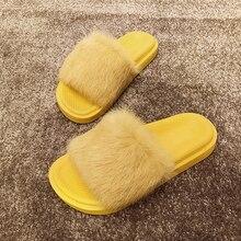Fluffy Slippers Women Furry Home Soft Winter Indoor Ladies Flat 2019 New Unicorn