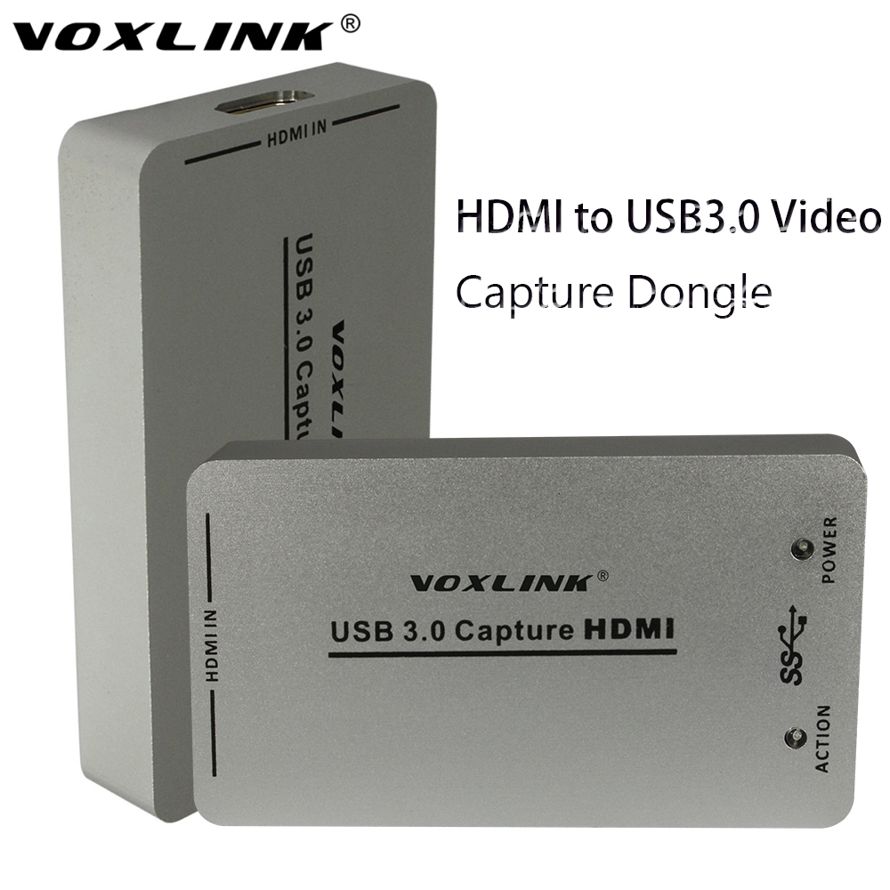 VOXLINK USB3 0 USB2 0 HDMI Capture Dongle 1080P 60FPS UAC UVC HDCP Audio Video HDMI