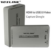 Voxlink usb3.0 usb2.0 hdmi yakalama dongle 1080 p 60fps uac/uvc/hdcp ses video hdmi yakalama dongle usb linux windows için yakalama