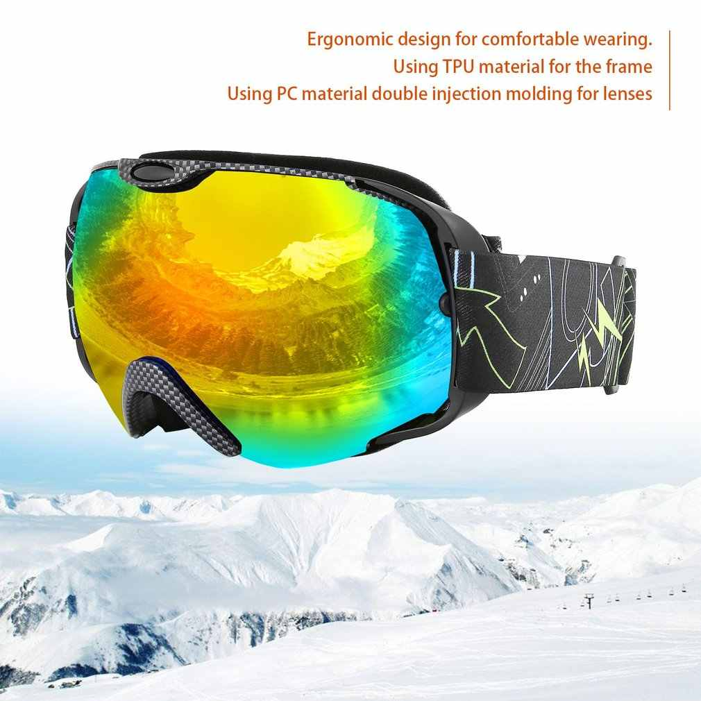 7135d2149884 Detail Feedback Questions about New Adults Double Lens Ski Goggles Anti fog Skiing  Goggles Snow Snowboard Protective Glasses Eyewear drop shipping on ...