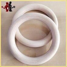 """Anel de Madeira de madeira de qualidade 2 unidades/pares 1.1 """"Anéis de Ginástica Crossfit Ginásio Ombro Portátil Força Treinamento Home Fitness Equipamentos"""