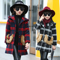 2016 New Fashion Winter Girls Wool Coats Tops Kids Windbreaker Girls Clothing Hot Hoodies Warm Thick Outerwear Children Clothes
