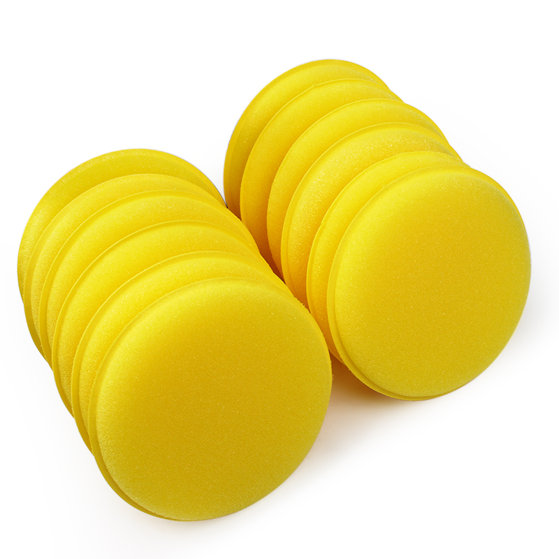 LEEPEE 12 Pcs/set Car Wax Sponge Applicator Pads Tyre Dressing Foam Yellow Anti-Scratch Car Care Car Cleaning Tool