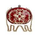 Акриловые женщин роскошные сцепления невесты красный cyrstal вечерние сумки bling diamond клатчи женский партия цветок вечер сумочка кошелек 677 т
