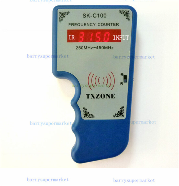 SK-C100 Wireless RF Portable Frequency Meter Scanner Counter Tester Detector Wavemeter 250MHz-450MHz mini handhold digital frequency counter tester indicator detector cymometer remote control transmitter wavemeter 250 450mhz