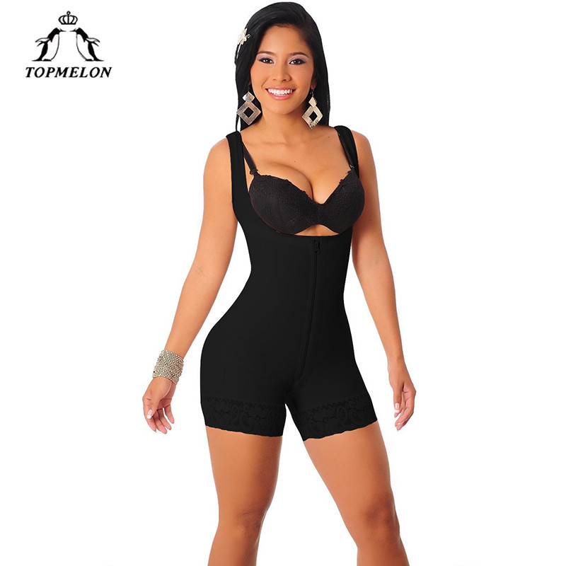 8fdcdba37c246 TOPMELON Butt Lift Tight Sculpting Body Shaper Fat Control Shapewear Full Body  Bodysuits Women Sexy Slimming