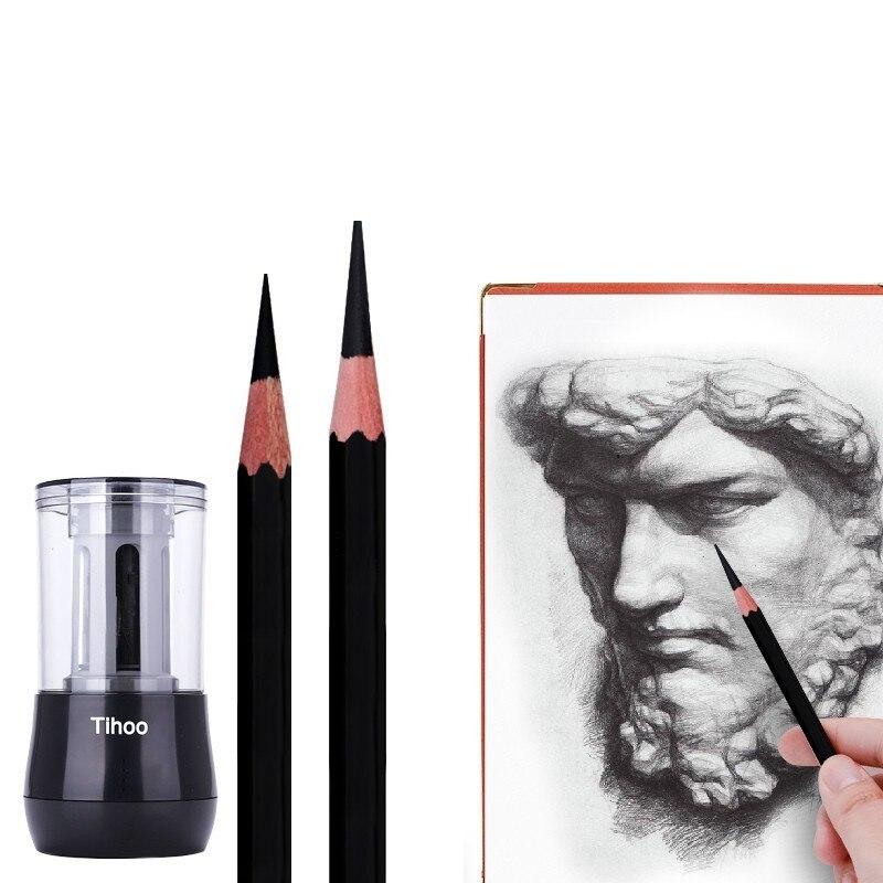 Taille-crayon électrique de puissance beaucoup de fonction beaux Arts étudient le taille-crayon de croquis taille-crayon entièrement automatique Tc8009.