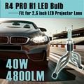 R4 PRO Bombilla LED H1 40 W 4800LM Coche de la Linterna Del Faro 2.5 pulgadas Mini Lente De Proyección de Alta de luz de Cruce Super Delgado 6000 K 1 unids