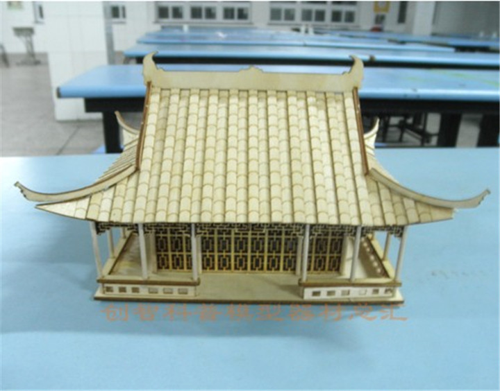 Ancient Architecture In China Four Corner Pavilions Diy Puzzle Building Sand Table Self-restraint Model Toys & Hobbies