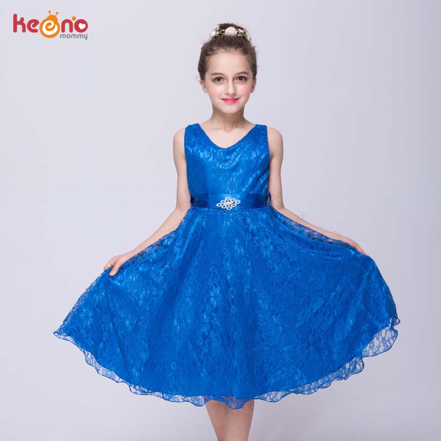 New Girls Teenage Dress Princess Children Summer Lace Clothing Baby Kids Birthday Party Wedding Dresses Evening Prom Costume цена и фото