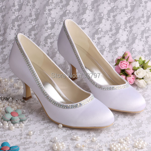 Wedopus Custom Handmade Wedding Bridal Ornaments white Rhinestones Wedding Shoes in Autumn