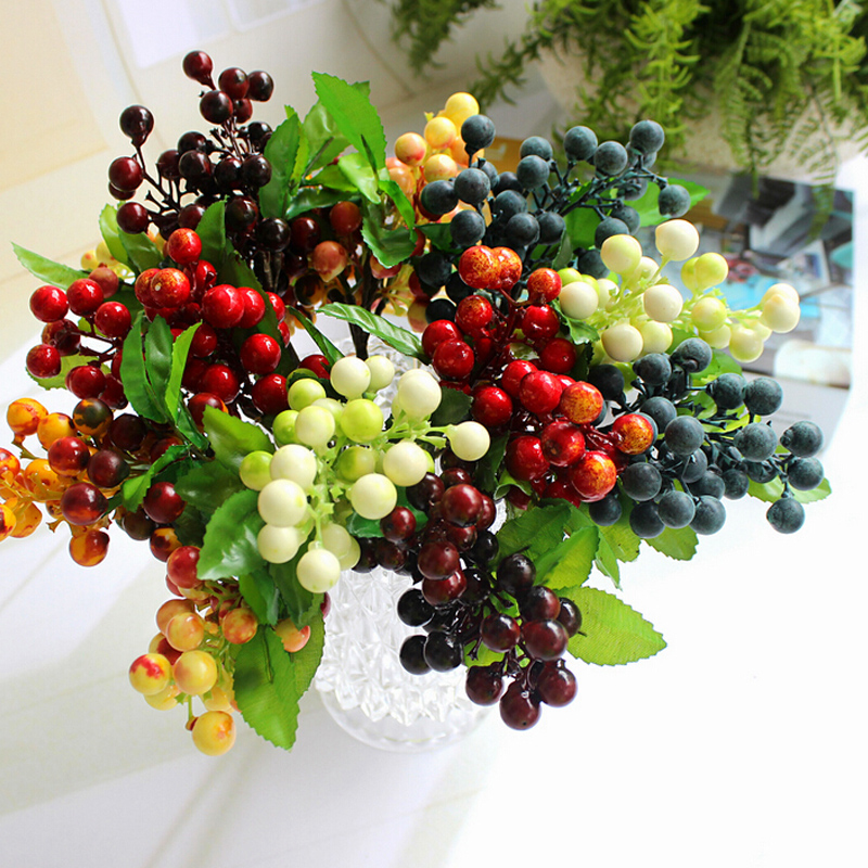 Average Cost Of Wedding Flowers 2014: 2016 Hot Sale Wedding Arrangements Berry Decor Artificial