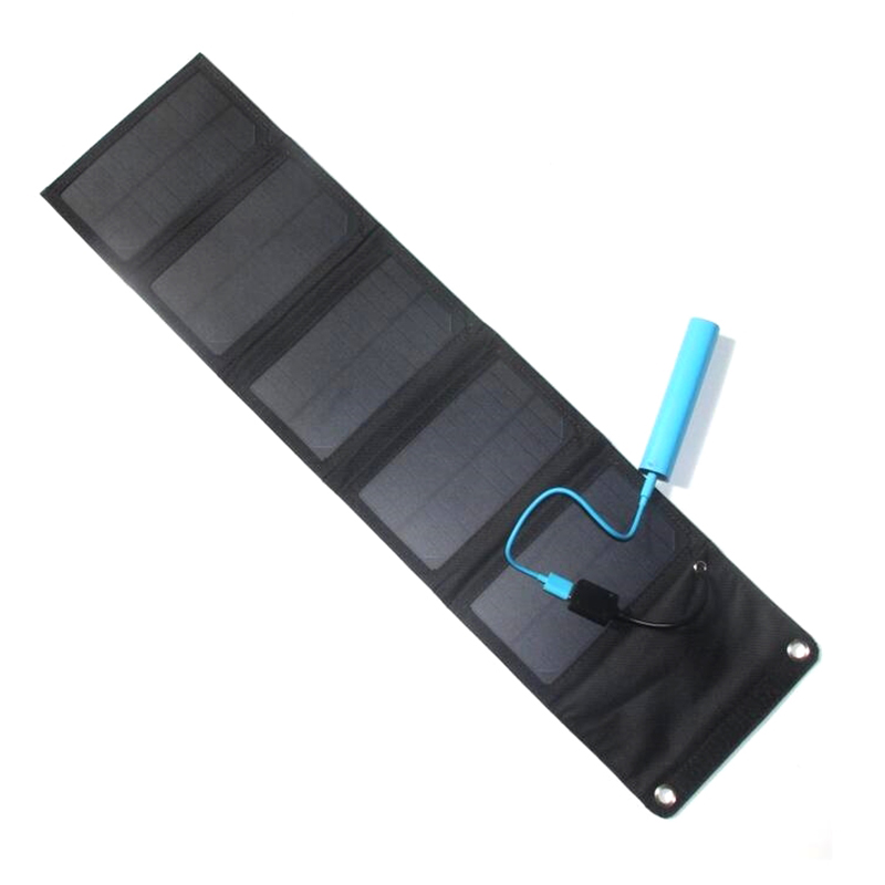 10W Portable Foldable solar Charger for outdoor charging camp Waterproof Solar Rechargeable Folding Bag