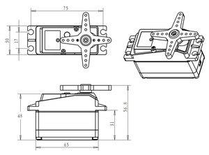 Image 3 - バハ高トルクサーボ 60 キロ DS5160 hv デジタルサーボ 1/5 redcat hpi バハ 5B ss rc サーボ車互換性 SAVOX 0236 losi xl 5 t