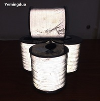 2.0mm high light reflective thread high visibility two  sided reflective warning safety silk Garment accessories