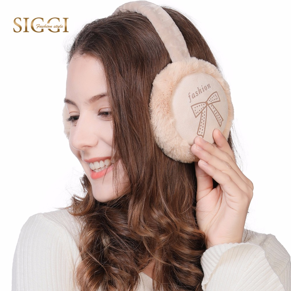 FANCET Winter Cute Fashion Earmuffs For Women Print 3 Panels Fleece Soft New Brand Earflap Girls Warm Female Earmuffs 99125