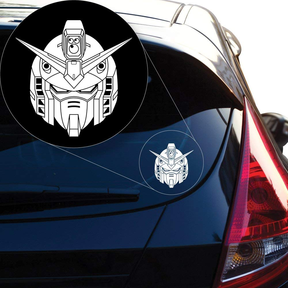 """Gundam Wing Decal Sticker for Car Window, Laptop and More # 939 (6"""" X 6"""", White) bmw accessories"""