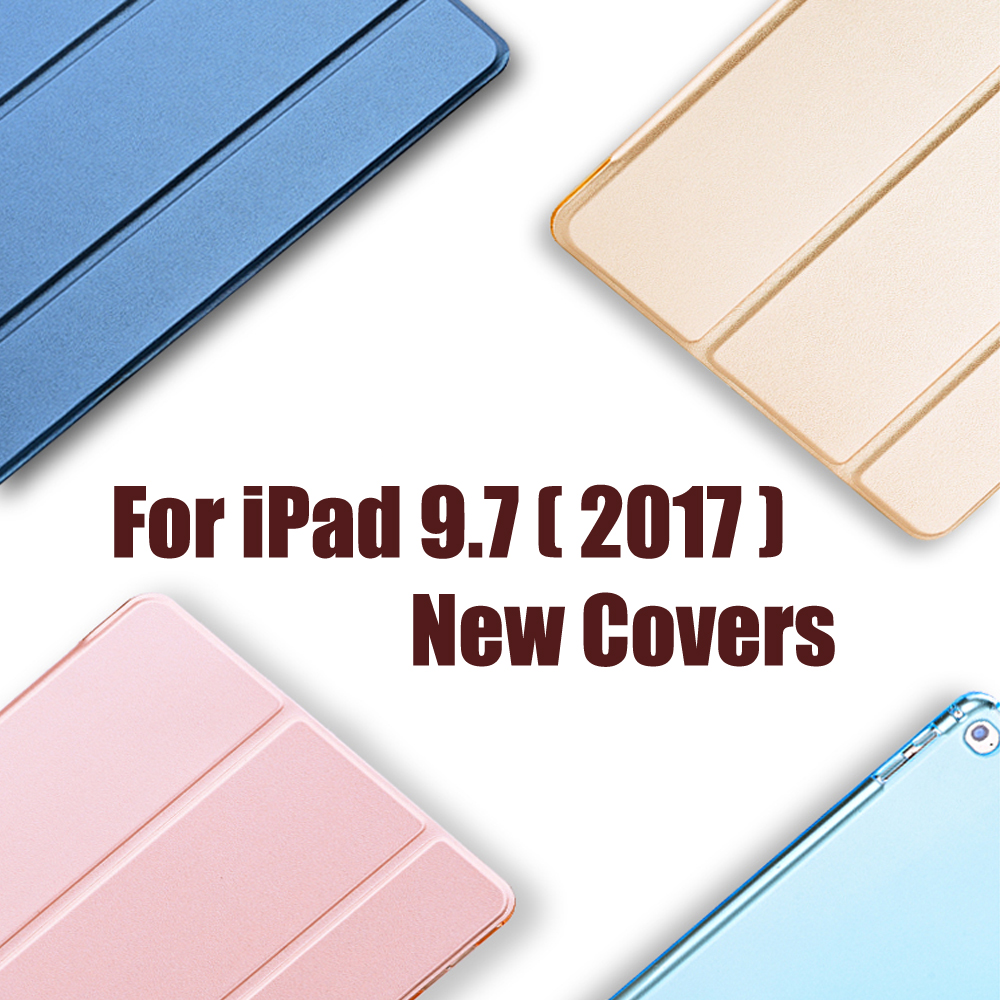 A1822 For Apple pad 9.7 2017 Cover i Pad Case Luxury Flip Protective Matte Pu Leather Holder 9.7 cal 2017 Pu Smart Wake Up Cases