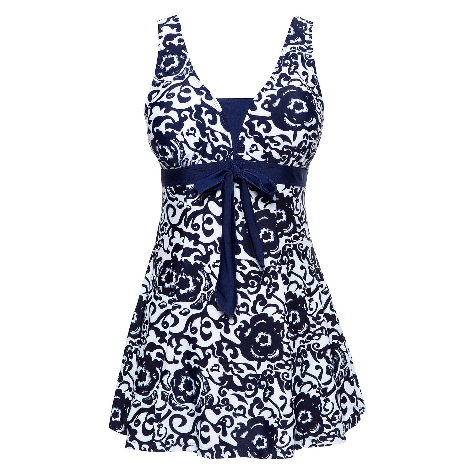 Plus Size Swimwear Female Polka Print One Piece Swimsuit Women Vintage Bathing One-Piece Suits Retro Large Size Swimsuit plus size zigzag backless one piece swimsuit