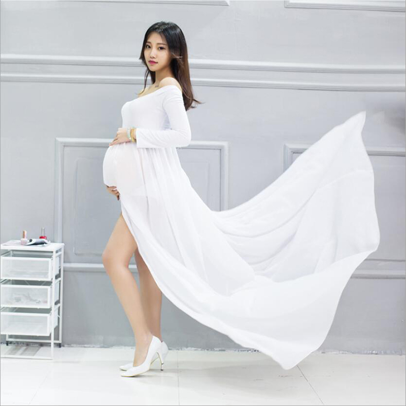 7218bb2a9fe Maternity clothes pregnant chiffon photography maxi dress Pregnancy summer  Plus Size shirt clothes for pregnant woman s gown - aliexpress.com -  imall.com