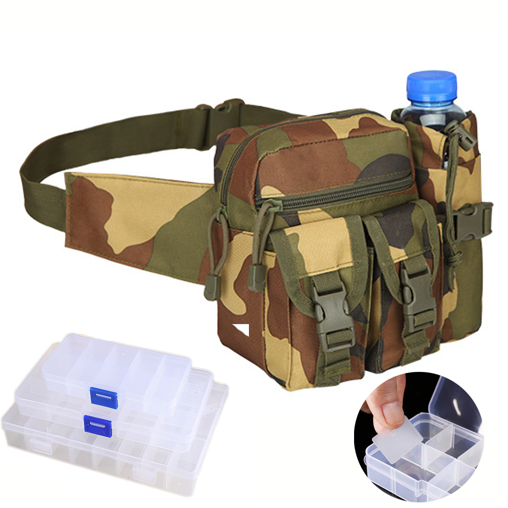 Portable Fishing Tackle Bag Pocket Pouch Outdoor Fishing Reel Canvas Waist Bag T