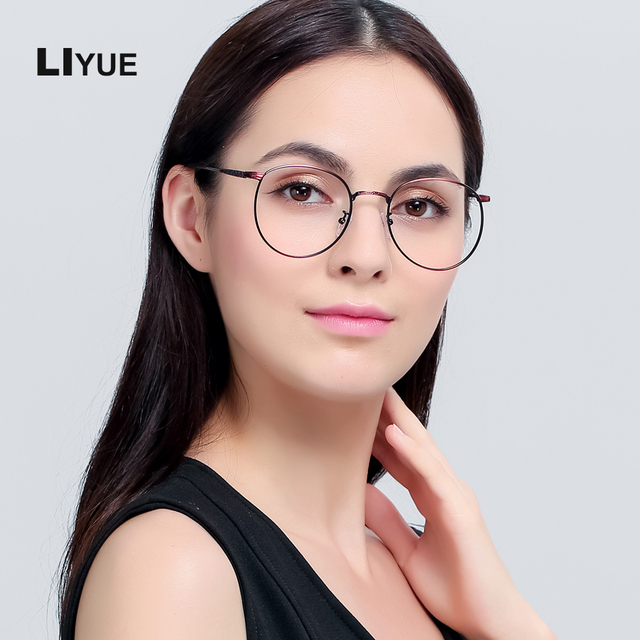 53c8bc478bd3a LIYUE Retro eyewear frame women optical eyeglasses computer glasses  Spectacles Frames Vintage optical glasses Round Frame