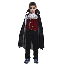 Horror Count Kids Costume Scary Vampire Dracula Cosplay for Boys Party Dress Halloween Costumes Fantasia