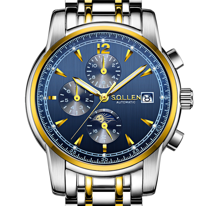 Mens Watches Top Brand Luxury SOLLEN 2017 Men Watch Sport Tourbillon Automatic Mechanical steel Wristwatch relogio masculino ytai d630 ibq00la 3302p rev 1 0 a00 laptop motherboard independent 2 pieces video memory for dell d630 test and free shipping