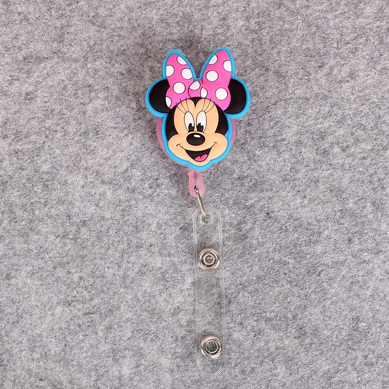 Cartonn Duck Girls Retractable Plastic Badge Holder Reel Mouse Exhibition ID Enfermera Name Card Hospital Office Chest Card in Badge Holder Accessories from Office School Supplies