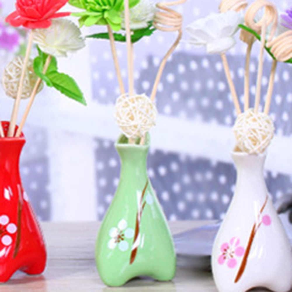 2018 nuevo 1 juego de tres pies de impresión de madera flor seca ratán No fuego aromaterapia Set incienso palos aceite esencial